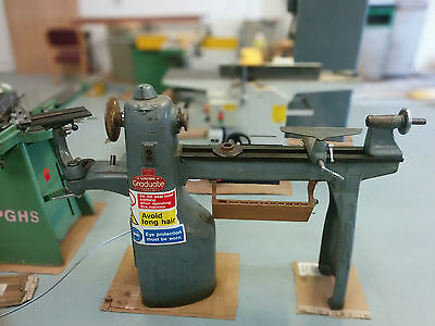 Union Graduate Wood turning Lathe. Ex HighSchool, With accessories.