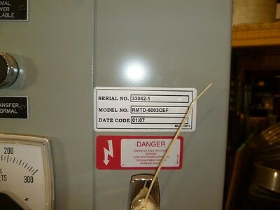 600 Amp Russelectric Automatic Transfer Switch