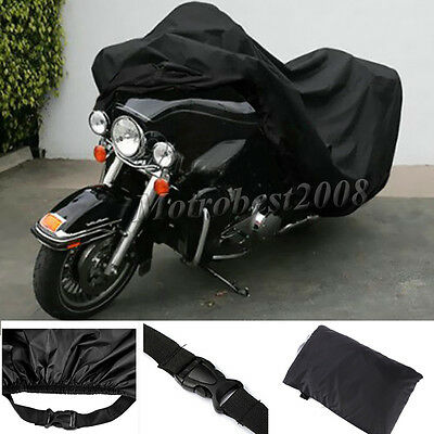 XXXL Motorcycle Bike Cover Outdoor Waterproof Anti-Rain Snow Dust UV Protector