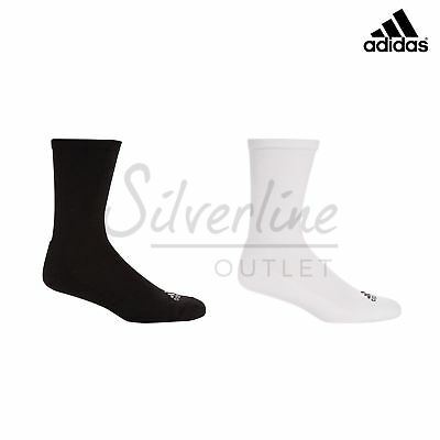 Adidas Men's -Crew Golf Sock -Anti-microbial -Padded Sole -Comfort Fit -2 Pack