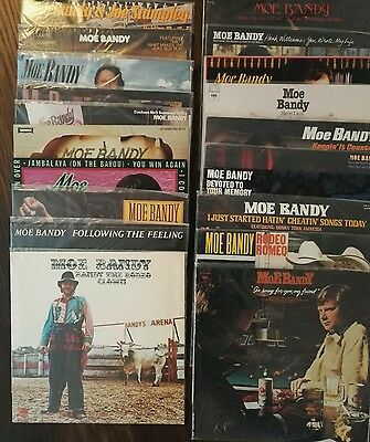 Moe Bandy Vinyl LP Collection 20 LPs
