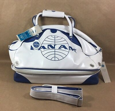 NEW - Pan Am Certified Large Vintage Inspired Retro Gym Travel Carry On Bag