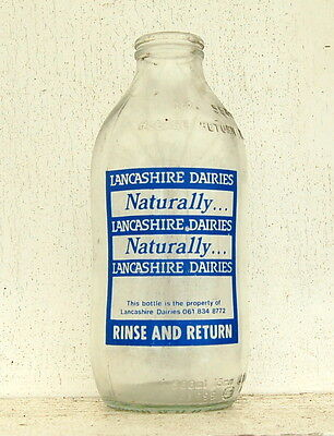milk bottle : lovely LHD Lancashire Dairy