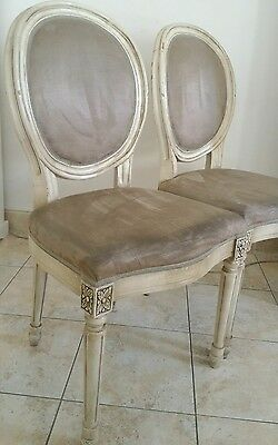 Lot de 2 chaises style Louis XVI