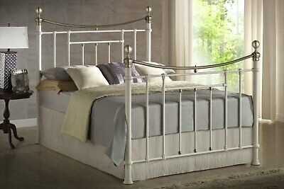 Birlea Bronte Brass Victorian Style 4FT6 5FT Metal Bed With Mattresses