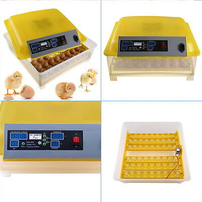 Full 48 Egg Incubator Digital Auto Tuner Temperature Control Poultry Hatcher VM