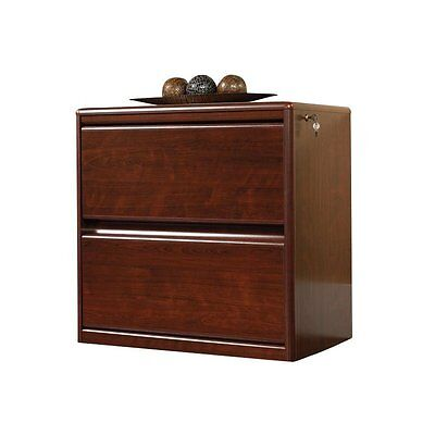 Filing Cabinet File Storage 2 Drawer Lateral Wood in ClassiCherry