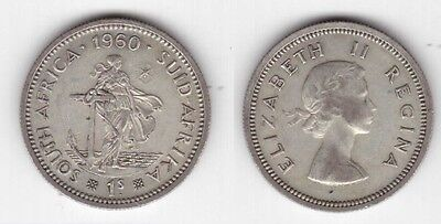 South Africa – Silver 1 Shilling Coin 1960 Year Km#49