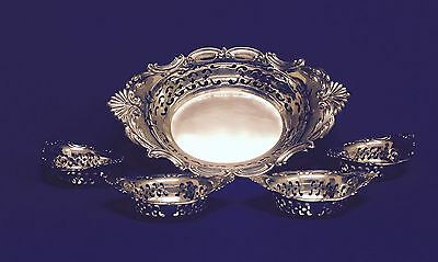 Gorham Sterling Silver Candy Dishes Master & 4 Individual 220 gms total