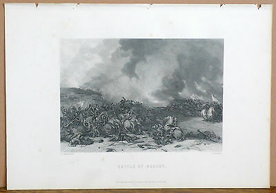 BATTLE OF NASEBY by Cattermole & Radclyffe, Original Antique Engraving, c. 1870