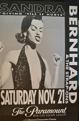 "Sandra Bernhard Original Poster, Live at the Paramount, ""Give Until it Hurts"""