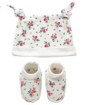 Cath Kidston Baby Girl Hat And Bootie Gift Set