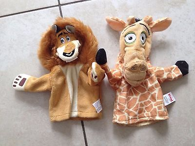 Persil Madagascar 2 Hand Puppets Lion & Giraffe. Great Condition.