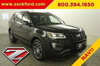 2016 Ford Explorer Sport All Wheel Drive 3.5 EcoBoost Automatic AWD Leather Heated Cooled Seats Navigation Backup Cam