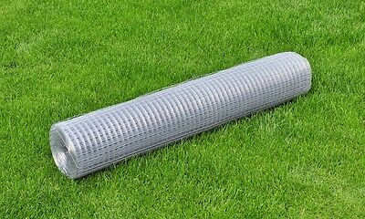 #sNew Square Wire Netting Wire Fence 1 x 10 m Galvanized Mesh Size of 19 mm