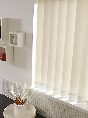 Cream Vertical Blinds - Quality Made To Measure - Complete Blind