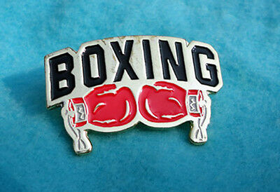 ZP353 Red Gloves Boxing Lapel Pin Badge