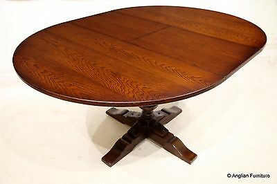 Old Charm Hunsdon Round Dining Table Tudor Brown FREE Delivery