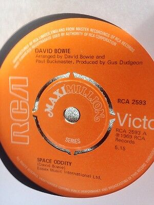 "David Bowie ‎– Space Oddity EP - 7"" Record VG/VG UK 1975 Rock Glam Pop"