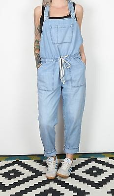 Dungarees UK 12 Medium  Fitted Oversized 10 Small  Denim Mid Blue  (83A)