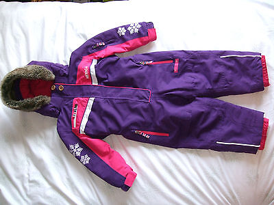 Ski Suit Nevica Purple All-In-One Age 2-3 Years In Excellent Condition