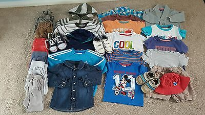 large baby boys 12-18 months clothes bundle, shoes, jumpers, joggers, t-shirts,