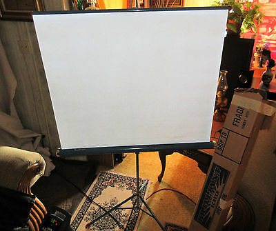 """Vintage Portable Projection Screen 39.5"""" X 39.5"""" - made by Brilliant"""