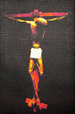 Printed Patch 1904-1989 CHRIST ON THE CROSS Sew On SALVADOR DALI