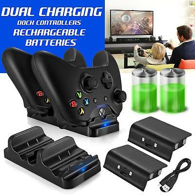 Charger Xbox One Dual Dock Charging Station 2 Rechargeable Batteries Controller