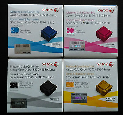Xerox ColorQube 8570 Metered ink set 108R00949 108R00948 108R00947 108R00946 LOT