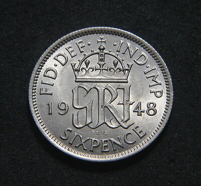 George VI 1948 Sixpence High UNC