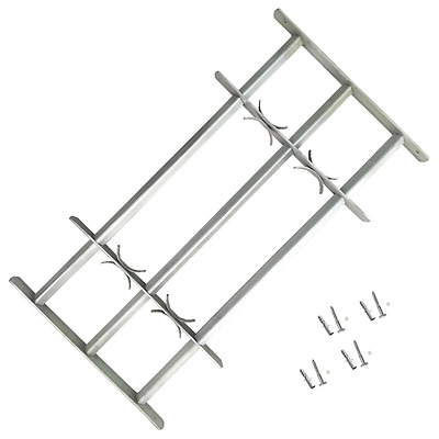 Adjustable Window Security Grilles Bars Shed Office with 3 Crossbars 1000-1500mm