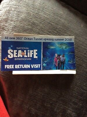Sea Life Centre Two Tickets