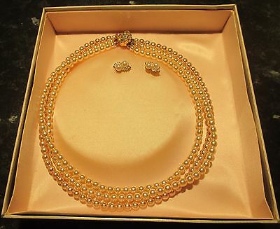 Torq Pearl Necklace With Matching earings
