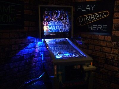DE Star Wars LED Miniature Limited Edition Pinball Machine Model 1/12 Scale