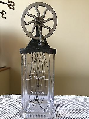 """Antiques  Rare  N.y.   Even Full 1 Qt  """"the Silver""""   Beater Liquid/dry Measurer"""