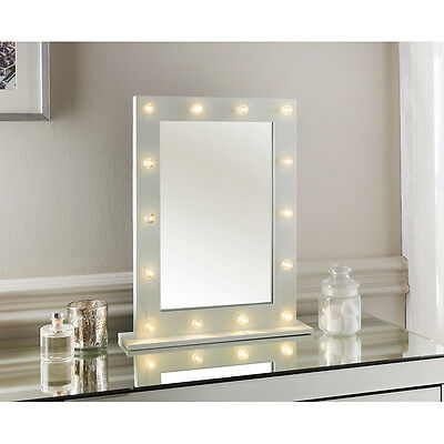 New Hollywood LED light detailed Dressing Table Mirror -60 x 80 x 2cm (Approx.)