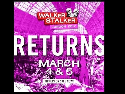 2x Weekend (Saturday And Sunday) Walker Stalker Con GA Tickets London March 2017