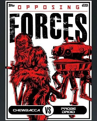OPPOSING FORCES CHEWBACCA VS PROBE DROID Topps Star Wars Trader Digital