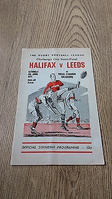 Halifax v Leeds 1972 Challenge Cup Semi-Final Rugby League Programme