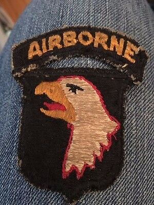 101st AirBorne Division ww2 SSI RED TRIM patch