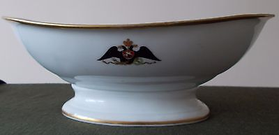 Russian Imperial Porcelain Bowl - Alexander Iii - Large