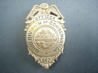 Ohio Fish and Game Warden Conservation Officer Badge
