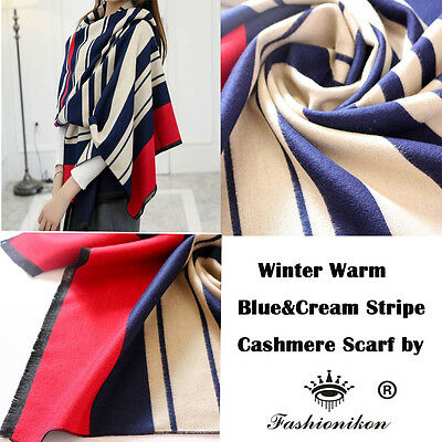 Cosy Fashion Long Stripped Scottish Tartan Spring Double Side Scarf Shawl Wrap