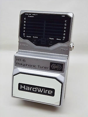 Hardwire Ht-6 Polyphonic Tuner Pedal For Guitar & Bass