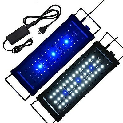 Aquarium Hood Led Tank Fish Light Lighting Interpet System Submersible WhiteBlue