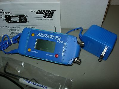 Acutrak 22 Pro Satellite Signal Tracking Alignment Meter W/ Chargers
