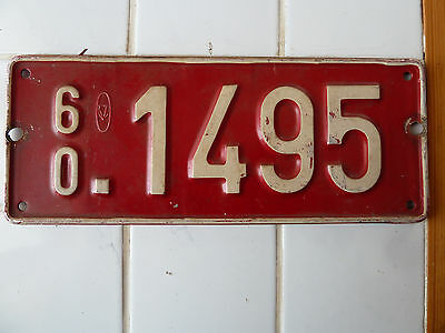 1960 Bruxelle License Plate #1495.....92G