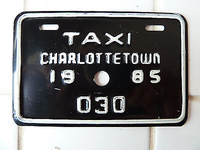 1985 Charlottetown TAXI License Plate #030......50G