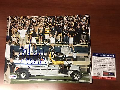 "Marshawn Lynch signed Rare ""Driving Cart"" 8x10 photo PSA/DNA-Cal Bears-Seahawks"